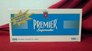 Premier Light 100mm Size Filtered Cigarette Tubes