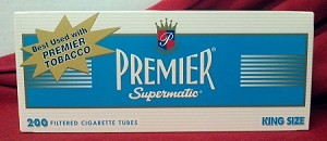Premier Light King Size Filtered Tubes
