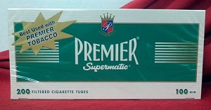 Premier Green 100mm Size Filtered Tubes