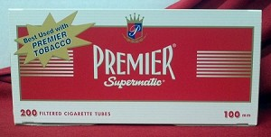 Premier Red 100mm Size Filtered Tubes